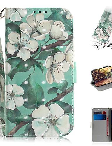 google piksel 3a xl / google piksel 3a cüzdan / kart sahibinin / darbeye dayanıklı tam vücut kılıfları çiçek pu deri