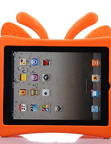 Pouzdro Uyumluluk Apple iPad 4/3/2 Çocuk Kilidi Arka Kapak Solid / Kelebek / 3D Karikatür EVA