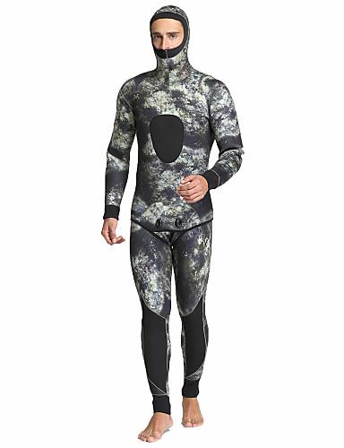 baratos Roupas de Mergulho & Camisas de Proteção-MYLEDI Homens Macacão de Mergulho Longo 5mm SCR Neoprene Roupas de Mergulho Prova-de-Água Térmico / Quente Secagem Rápida Manga Longa Zip posteriore 2 Peças - Natação Mergulho Surfe Primavera Verão