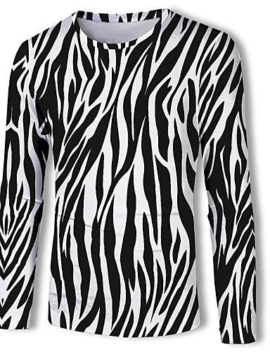 voordelige Heren T-shirts & tanktops-Heren Standaard Print T-shirt dier Zwart