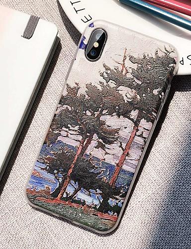 Apple iphone xr / x su geçirmez / toz geçirmez / desen arka kapak sahne yumuşak tpu / manzara boyama moda sanat kabuk telefon kılıfı için iphone 5/5 s / se / 6/6 s / iphone 6/6 s artı / iphone 7/8 /