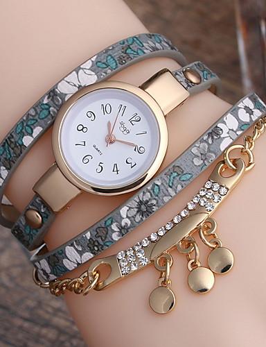 Kadın's Elbise Saat Quartz Deri Gündelik Saatler Analog Klasik - Mor Fuşya Kırmzı