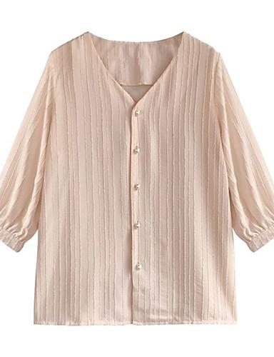 billige Dametopper-Skjorte Dame - Ensfarget, Flettet Bohem Grønn US8 / UK12 / EU40