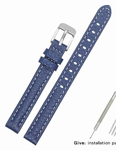 Gerçek Deri / Deri / Buzağı Tüyü Watch Band kayış için Mavi Diğer / 17cm / 6.69 inç / 19cm / 7.48 İnç 1cm / 0.39 İnç