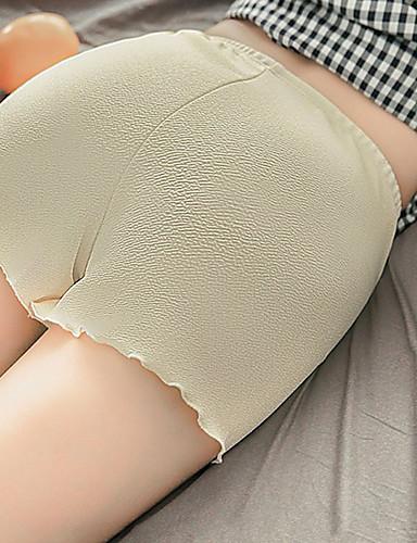 abordables Pantalons Femme-Femme Basique Short Pantalon - Couleur Pleine Noir Blanche Rose Claire M L XL