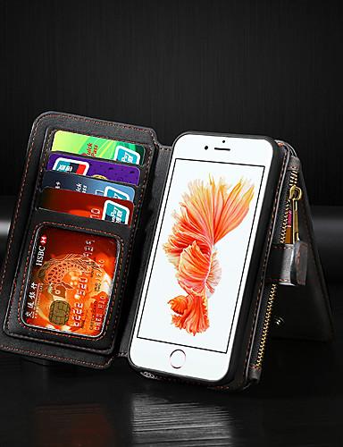 Apple iphone 8 artı / iphone 7 artı cüzdan / kart sahibinin / çevirmek tam vücut kılıfları katı renkli pu deri