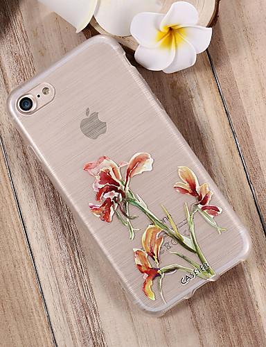Apple iphone x / iphone 7 artı su geçirmez / toz geçirmez / saydam arka kapak çiçek yumuşak tpu / taze moda kabuk telefon kılıfı için iphone 5/5 s / 6/6 s / iphone 6/6 s artı / iphone 7 / xr / xs max
