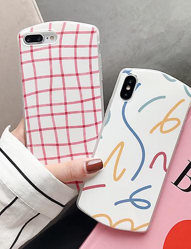 Pouzdro Uyumluluk Apple iPhone XS / iPhone XR / iPhone XS Max Toz Geçirmez / Temalı Arka Kapak Çizgiler / Dalgalar / Karton PC