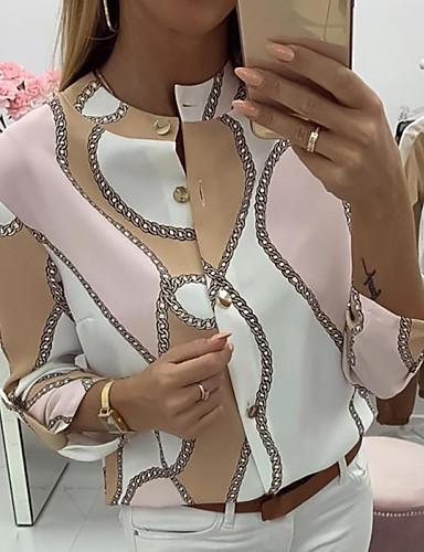 billige Topper til damer-T-skjorte Dame - Geometrisk Rosa