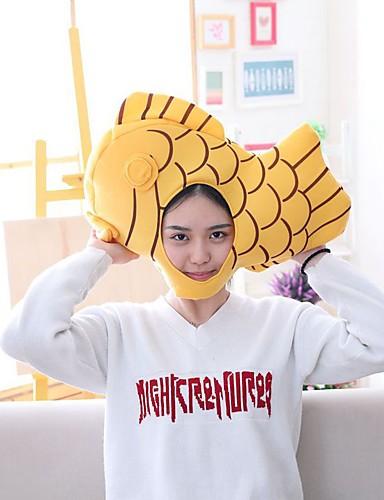 Kadın's sevimli Stil Polyester Kıvırılan Şapka Çizgili Tüm Mevsimler Sarı