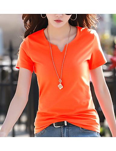 abordables Hauts pour Femme-Tee-shirt Femme, Couleur Pleine Mosaïque Chic de Rue Noir