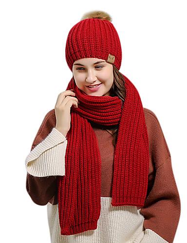 Kadın's Temel Polyester Kıvırılan Şapka Solid YAKUT