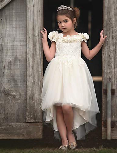 povoljno Pretprodaja-Djeca Djevojčice Jednobojni Bez rukávů Do koljena Haljina Obala