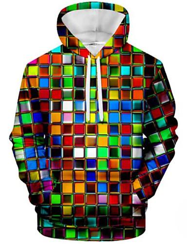 povoljno Muške majice s kapuljačom i trenirke-Muškarci Ležerne prilike Hoodie Color block
