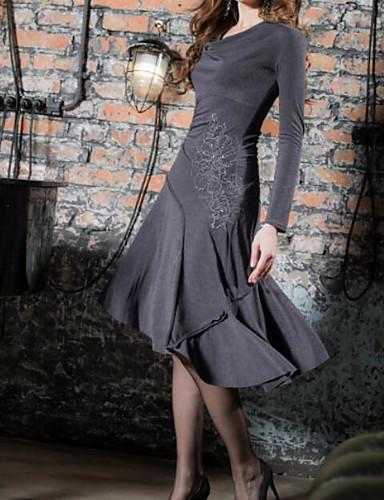 povoljno Pretprodaja-Žene Elegantno A kroj Haljina - Čipka, Jednobojni Cvjetni print Midi