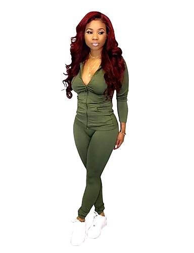 abordables Hauts pour Femmes-Vert / Fuchsia / Bleu Couleur Pleine Coupe Standard Polyester Costume - En Pointe Sans bouton