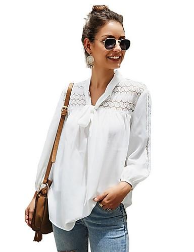 Kadın's Gömlek Solid Beyaz
