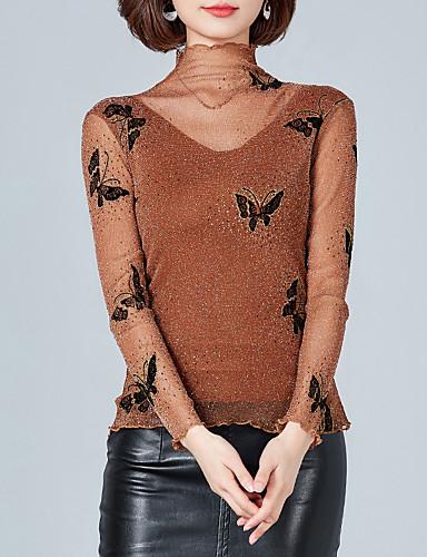 billige Dametopper-T-skjorte Dame - Dyr, Trykt mønster Grunnleggende Svart