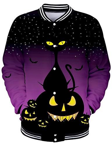 abordables Hauts pour Femmes-Femme Halloween Sweatshirt Géométrique