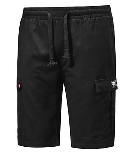 Erkek Temel Şortlar Pantolon - Solid Siyah US34 / UK34 / EU42 US38 / UK38 / EU46 US40 / UK40 / EU48