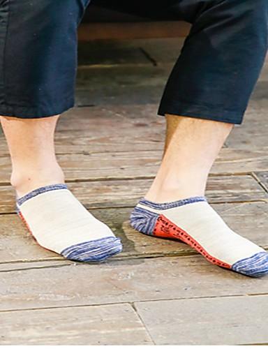 voordelige Herenondergoed & Zwemkleding-Heren Katoen Medium Sokken - Print 240D blauw Beige Een maat