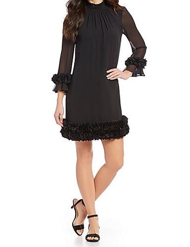 voordelige Korte jurken-A-lijn Hoge nek Kort / Mini Chiffon Bruidsmoederjurken met Appliqués door LAN TING Express