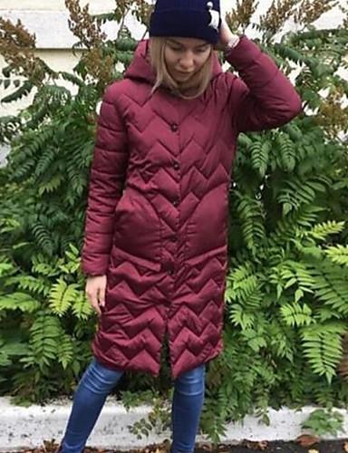 halpa Naisten päällysvaatteet-Naisten Yhtenäinen Padded, Polyesteri Purppura / Harmaa / Khaki M / L / XL