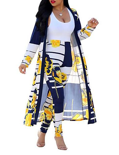 povoljno Ženske majice-Žene Boho / Ulični šik Set - Cvjetni print / Karirani uzorak / Paisley uzorak Hlače