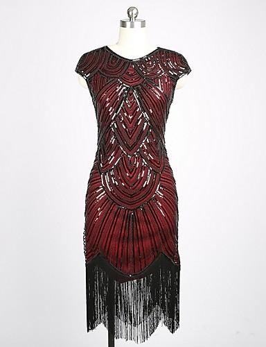 abordables Robes Femme-Femme Asymétrique Trapèze Robe Fleur Noir Rouge Beige S M L Sans Manches