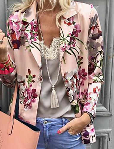 billige Dametopper-Bluse Dame - Geometrisk Grunnleggende Rosa