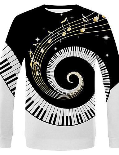 voordelige Uitverkoop-Heren Street chic / overdreven T-shirt Effen / Grafisch Zwart