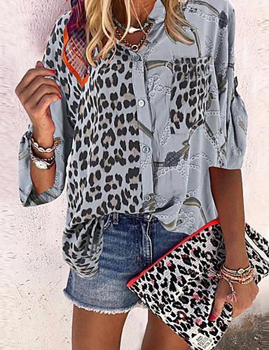 billige Dametopper-Skjorte Dame - Geometrisk Svart