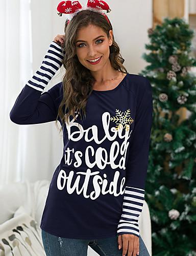 billige Topper til damer-T-skjorte Dame - Geometrisk Grunnleggende Svart