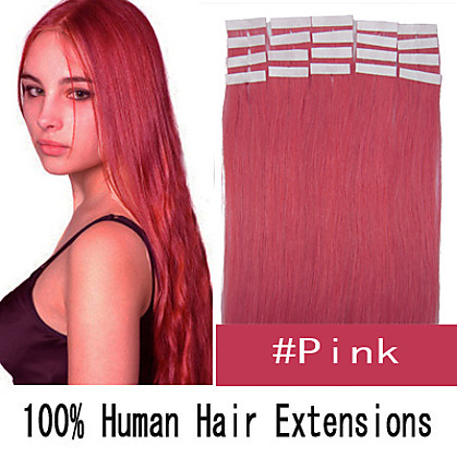 3 set 24 inch remy 70g / set huid tape haar Maleisische human hair extensions 19 kleuren voor vrouwen schoonheid