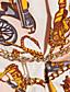 abordables Ropa de Calle de Mujer-ts estilo barroco cadena de impresión solapa chaleco con cinturón