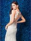 Недорогие Свадебные платья-Русалка Иллюзионный декор С длинным шлейфом Кружева Свадебное платье с Аппликации Пуговицы от LAN TING BRIDE®