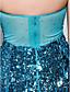 Sütun Boyundan Bağlamalı Uzun Kuyruk Payetli Boncuklama ile Balo Elbise tarafından TS Couture®