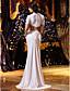 Русалка Из двух частей Круглый вырез С коротким шлейфом Трикотаж Свадебное платье с Бусины Аппликации от LAN TING BRIDE®