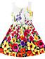 voordelige Meisjeskleding-Bloemen -Organisch katoen-Zomer / Lente-Girl's-Jurk-Rood