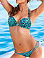 halpa Bikinit ja uima-asut 2017-Nais- Polyesteri/Spandex Kukkakuvio/Eläinkuvio/Bandage Bikini ,  Halter Push-up/Kaarituelliset rintaliivit/Pehmusteettomat rintaliivit