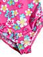 baratos Roupas de Banho para Meninas-Para Meninas Roupa interior Floral-Verão-Poliéster Fibra Sintética-Manga Curta Floral