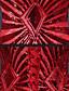 저렴한 프롬 드레스-포멀 이브닝 드레스 트럼펫 / 머메이드 스쿱 바닥 길이 레이스 / 튤 / 스팽글 와 비즈 / 레이스 / 진주 디테일 / 스팽글
