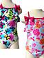 저렴한 여아 수영복-여아 속옷플로럴-여름-폴리에스테르 스판덱스-민소매 플로럴