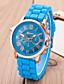 billige Trendy klokker-Dame Quartz Armbåndsur Hverdagsklokke Silikon Band Fritid Elegant Mote Svart Hvit Blå Rød Oransje Grønn Rosa Gul Rose