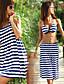 olcso Bikinik és fürdőruhák 2017-Női,Spandex Pamut keverékek Pánt nélküli Push-up Párnás melltartó Bikini Színes Push-up Nyomtatott