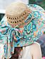 baratos Chapéus de Moda-Mulheres Vintage / Casual De Palha - Estampado / Beje / Azul / Laranja / Verde / Rosa