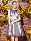 voordelige Schoolfeestjurken-Baljurk Jewel Neck Short / Mini Tulle Prom Jurk Met Kralen Met Ts Couture®