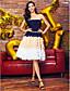 Χαμηλού Κόστους Φορέματα Χορού Αποφοίτησης-Γραμμή Α Στράπλες Μέχρι το γόνατο Σιφόν Κοκτέιλ Πάρτι Καλωσόρισμα Χοροεσπερίδα Φόρεμα με Χάντρες Ζώνη / Κορδέλα Πλισέ με TS Couture®