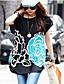 Pentru femei de vara Rochii coreean de flori imprimate Loose T-shirt