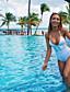 preiswerte Bikinis und Bademode 2017-Damen Einteiler Patchwork Halter